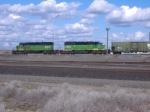 BNSF 7057 and 7873 working the hump
