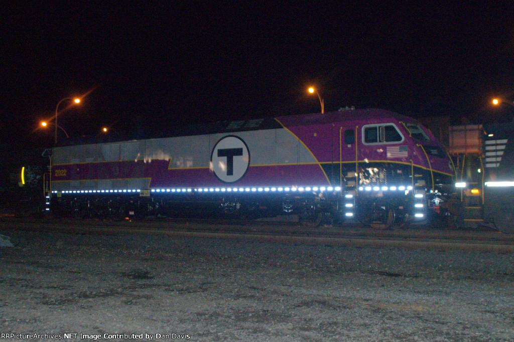 MBTA HSP-46 2022 as the fourth unit on 10A