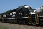 NS SD40-2 3509 trails on 10G