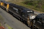NS SD60 6575 trails on 21M
