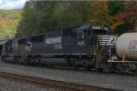 NS SD60 6686 trails on 36A