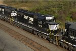 NS SD40-2 3270 trails on 37A