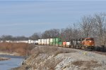 BNSF 6669 On NS 215 Eastbound