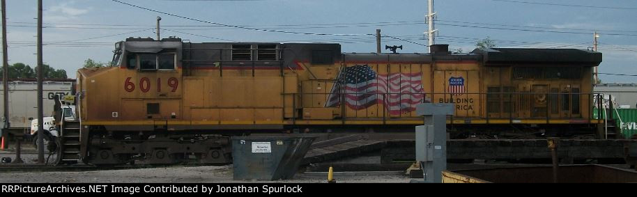 UP 6019, conductor's side, 5-28-2014