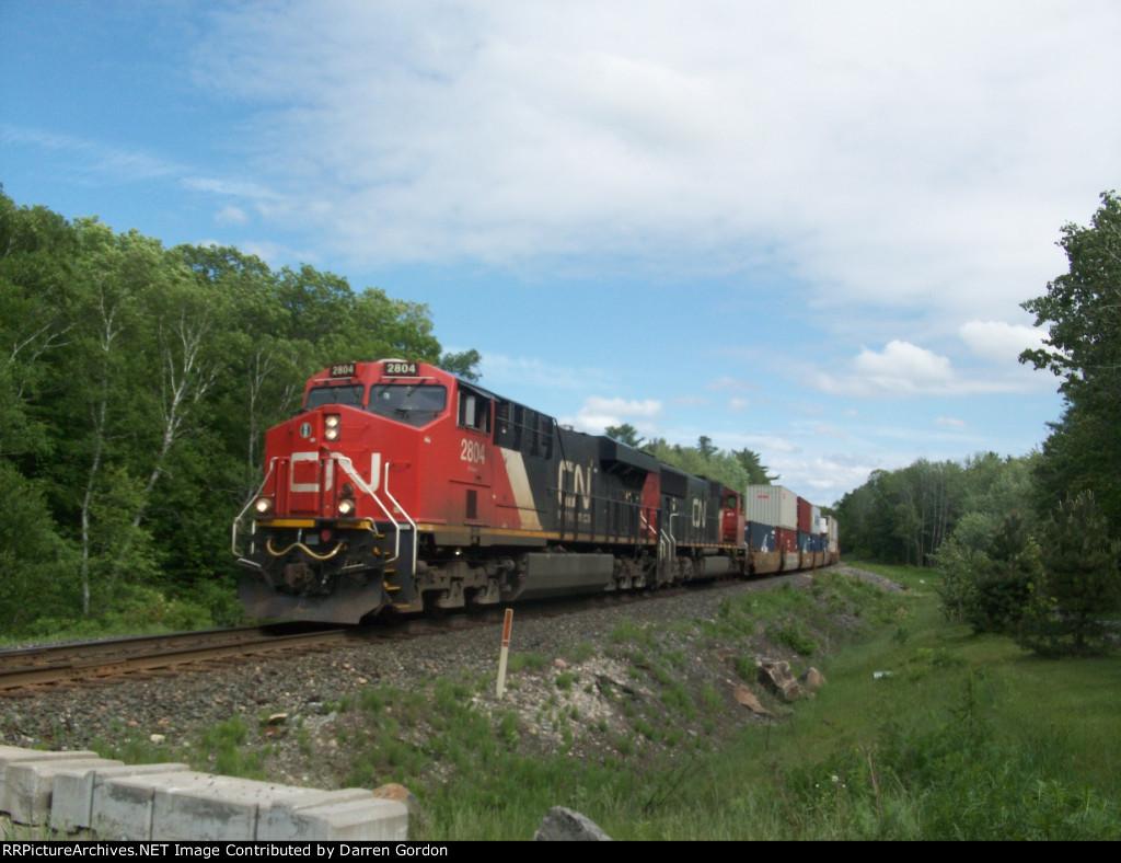 CN 2804 leads Train 107