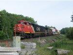 CN 2443 leads Train 107