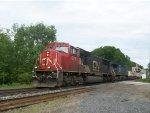 CN 5787 leads CN Train 106