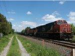 CN 2293 leads Train 305