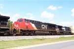 CN 2839 southbound on NS intermodal 213