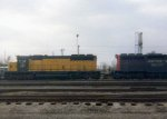 CNW SD40 874 and SP SD40E 7305