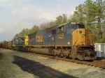 Fading Sun on a CSX Coal Train