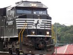 An SD60E taking charge
