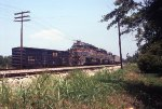 CSX 8110 west with Moss Point coal