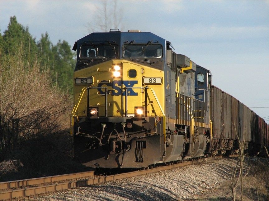 March 10, 2006 - CSX 83 leads empty hoppers north