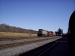NS 7553 on the lead with BNSF 5016 trailing