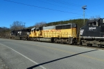 UP 2217 trails on NS 165