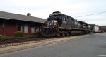 NS 8790 passes the ex-Southern Ry depot