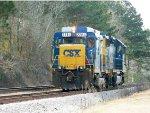 CSX 2264 (ROAD SLUG)  6438 (GP40-2)
