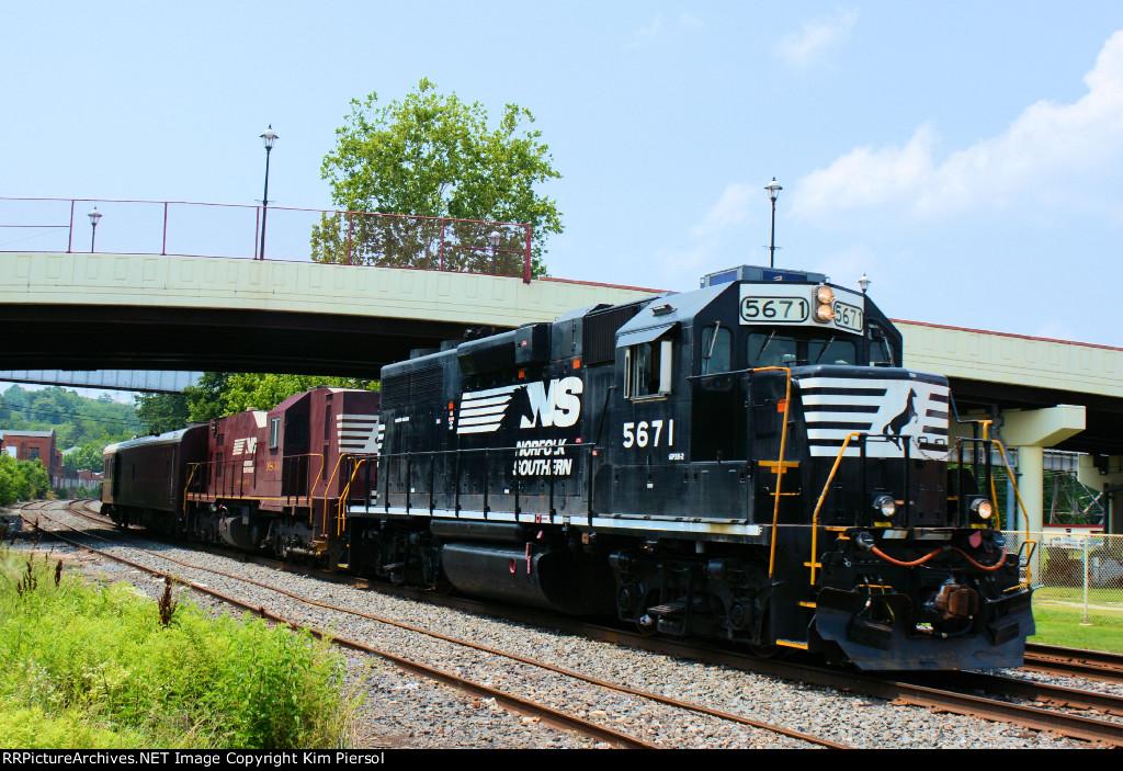 NS 5671 34 (Geometry Slug) NS Train 904