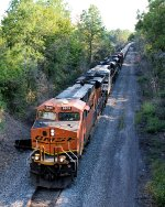 BNSF 6608 CSX Train K039 Crude Oil Empties