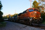 BNSF 6758 CSX Train K040 Crude Oil Loads