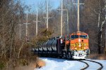 BNSF 5315 CSX Train K138 Crude Oil Loads