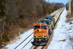 BNSF 7159 CSX Train K534 Bauxite Empties
