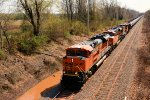 BNSF 8582 CSX Train K039 Crude Oil Empties