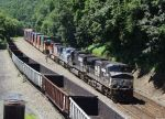 NS & BNSF GE Power at Front of Westbound Intermodal Train
