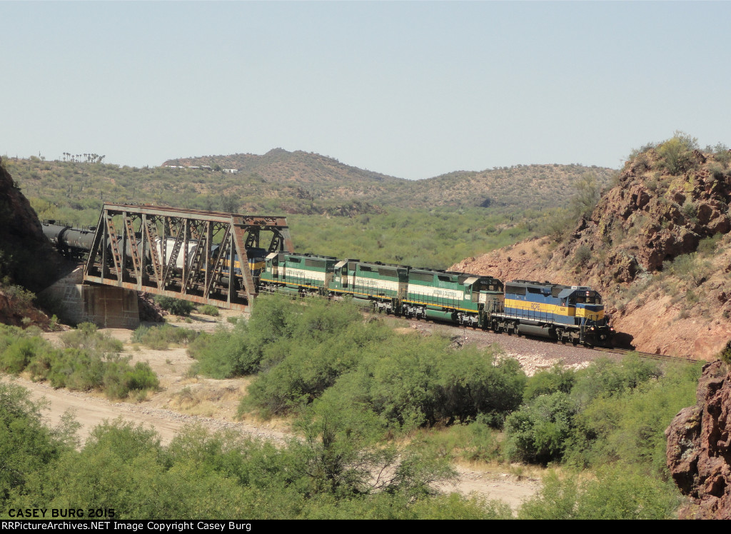 RCPE 6414 crosses Wickenburg Canyon