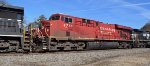 CP 8770 ES44AC eastbound in a light power move on NS through Mableton Ga 1:41PM 01-10-2015