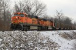 BNSF 6066 Drags a empty coal train up the Hannibal Sub.