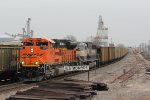 BNSF 8531 Leads a empty Ucex coal through Old Monroe Mo.
