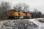 BNSF 8947 Heads a empty coal up the K line near Old Monroe Mo.
