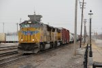 UP 5210 Leads a freight through Dupo IL,