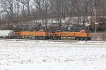 BNSF 8064 Rolls a NB freight up the Hannibal Sub.