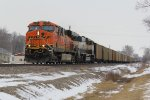 BNSF 6403 Leads a loaded coal drag down the K Line.