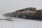 BNSF 9733 Rolls a coal load down the Hannibal Sub.