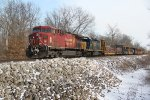 CP 9528 Drags a nice looking freight up the BNSF.