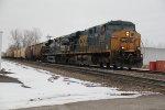 CSX 5369 Leads a Fertilize train into the siding at Old Monroe Mo.