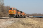 BNSF 5204 Heads lite power out of the TRRA.