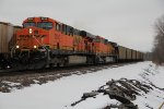 BNSF 5932 Heads up a empty UCEX coal train..