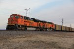 BNSF 9311 Heads up a empty coal train into the siding at Elsberry Mo.