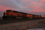 BNSF 7136 Leads a Z WSPSBD9 down the Marceline Sub.