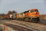 BNSF 6007 Leads the M-KCKGAL EB up hill into Brookfield Mo.