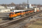 BNSF 7943 Brand new C4 on the lead of a WB Q train..