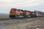 BNSF 7990 Brand new C4 leading a Westbound stack train.