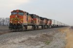 BNSF 5188 Leads a solid Z train down the Marceline Sub.