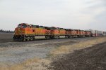 5 Ge's hustle a stack train west down the Marceline Sub..
