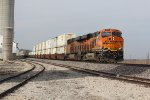 2 Gevo's lead a stack train east through Norborne Mo.